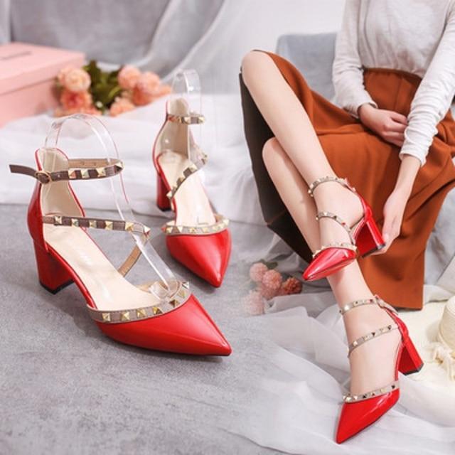 2f8a702674 2018 Primavera verão outono Europa e Nos Estados Unidos as novas apontou  sapatos de salto alto