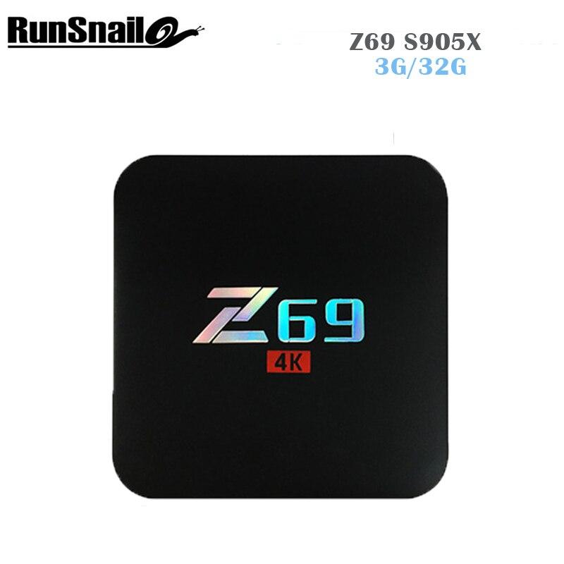 Z69 Android 7.1 TV Box Amlogic S905X Cortex A5 3Penta-Core 3GB 32GB Bluetooth Wifi 2.4G Set Top Box 4K HD Smart Media Player