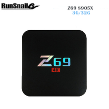 S905X Z69 Android 7.1 TV Box Amlogic Cortex A5 3Penta-Core 3 GB 32 GB Bluetooth Wifi 2.4G Set Top Box 4 K HD Smart Media jugador