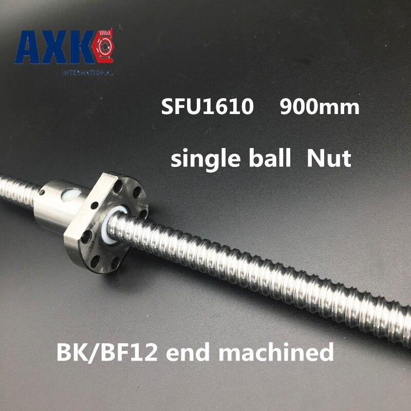 2018 Axk Sfu1610 900mm 16mm Ball Screw Length 900 Mm Plus 1pcs Rm1610 1610 Ballnut Cnc Diy Carving Machine Bk/bf12 Machined sfu1610 700mm 16mm ball screw sfu1610 length 700 mm plus 1pcs rm1610 1610 ballnut cnc diy carving machine bk bf12 machined