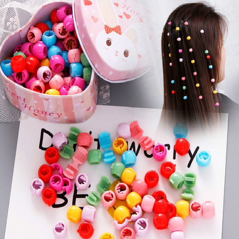 30pcs/pack Hair Pins For Kids Mix Color Small Sugar Beans Grab Clip Braided Hair Clip Baby Girl Princess Hair Accessories