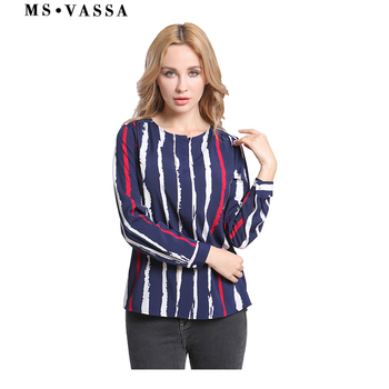 Women Blouses Striped  casual shirt tops
