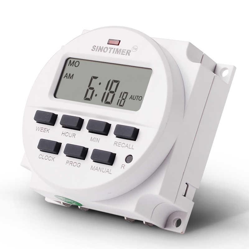 TM618H 12VDC AC hebdomadaire Programmable numérique minuterie électronique interrupteur minuterie de retard relais intervalle minuterie horloge temps de travail