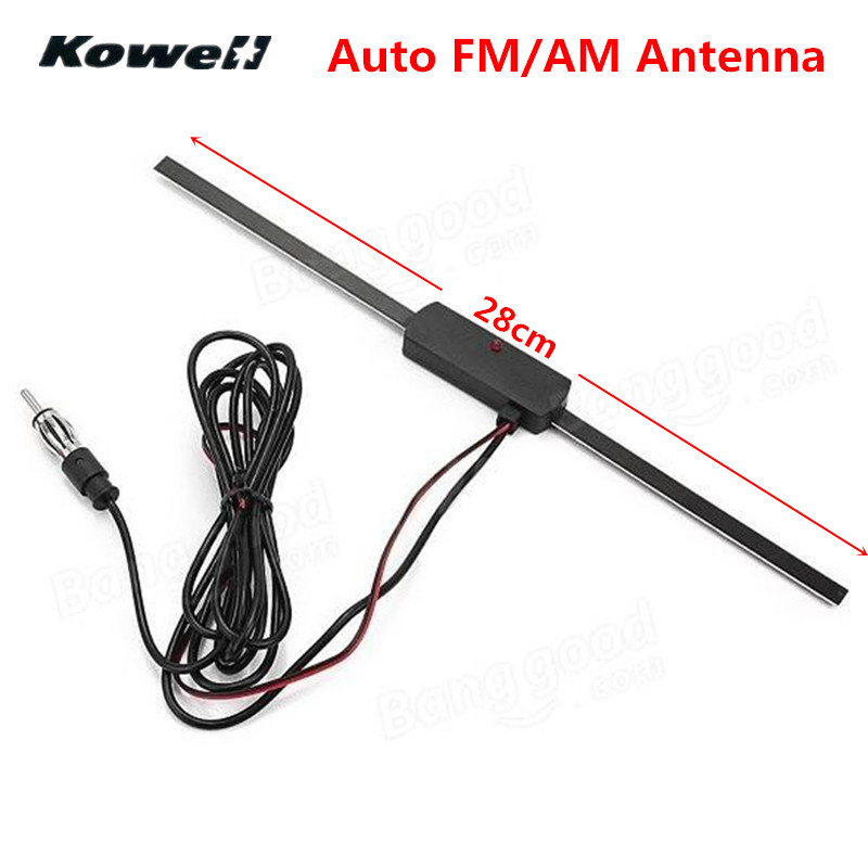 KOWELL Universal Car Auto Non Directional Antenna Car Windshield Electronic Base AM FM Radio Aerials for