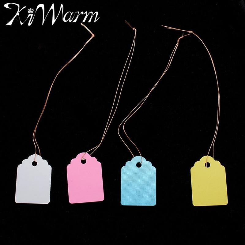 100Pcs/Set Novel PVC Waterproof Strip Line Colorful Label Tags Cute Mini Gift Bags Scrapbook And Merchandise Labels 3.6x2.5cm