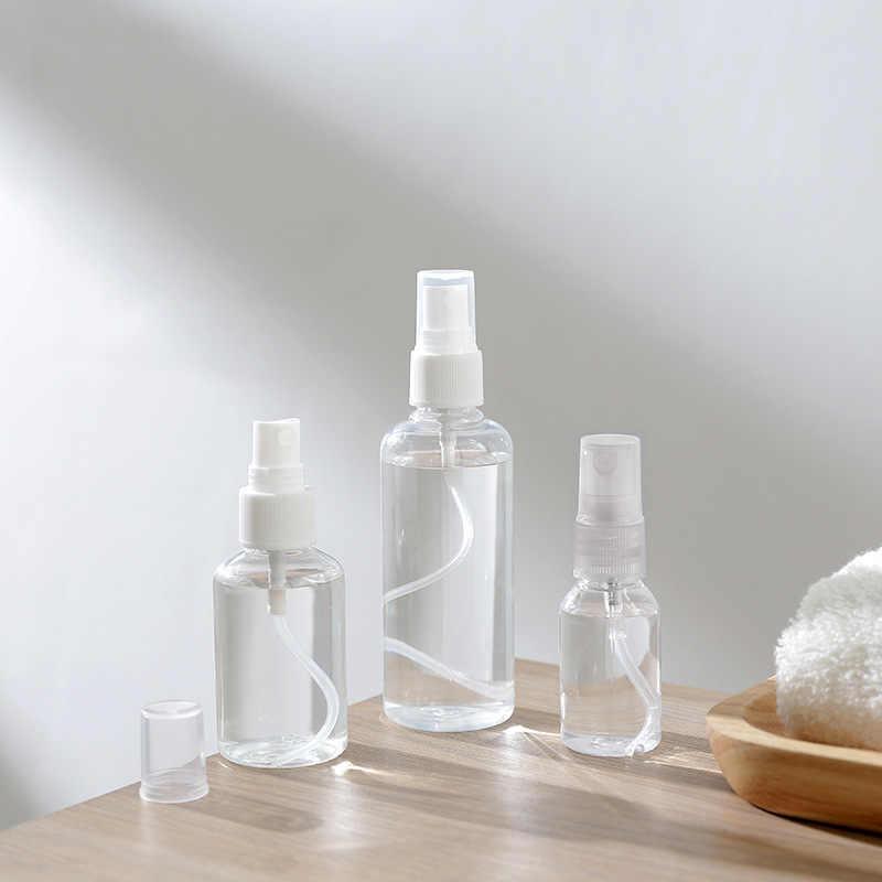 Etya nova beleza feminina mini acessórios de viagem pvc transparente maquiagem portátil garrafa recipiente organizador viagem saco à prova dwaterproof água