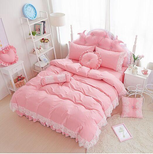 couvre lit complet ᐅCoréenne dentelle style princesse literie de mariage pastorale  couvre lit complet