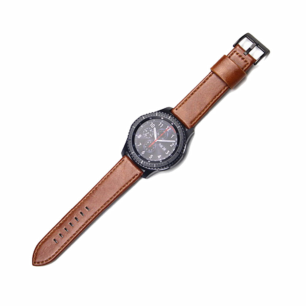 Leather strap for samsung Gear S3 Frontier/Classic band smart watch Genuine Leather bracelet watchband for Xiaomi Huami Amazfit genuine leather watch band strap for samsung galaxy gear s2 classic r732 black