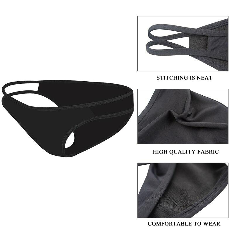 Женская сексуальная черная одежда для плавания, летние женские плавки с низкой талией, шорты-стринги, бикини, женское бразильское нижнее белье