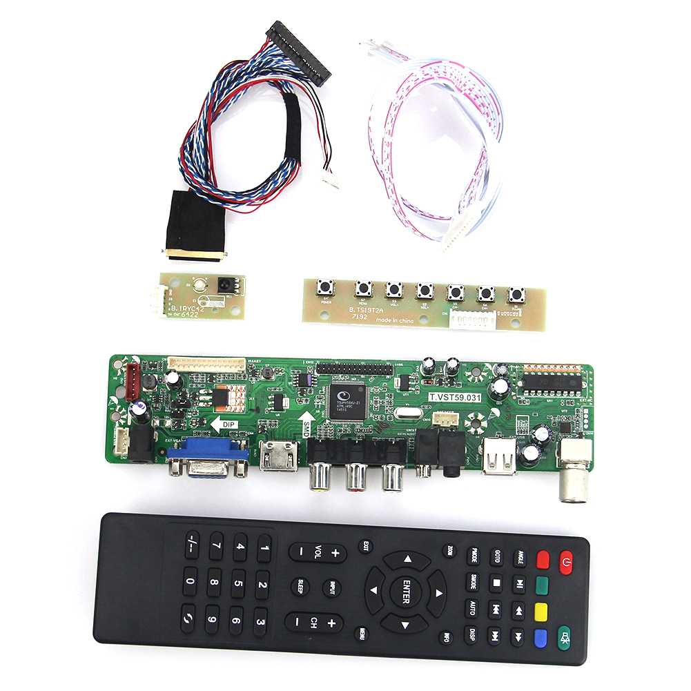 LCD/LED Controller Driver Board (TV+HDMI+VGA+CVBS+USB)  T.VST59.03 For B101AW06 V.1 N101L6-L01 LVDS Laptop 1024x600 Russian