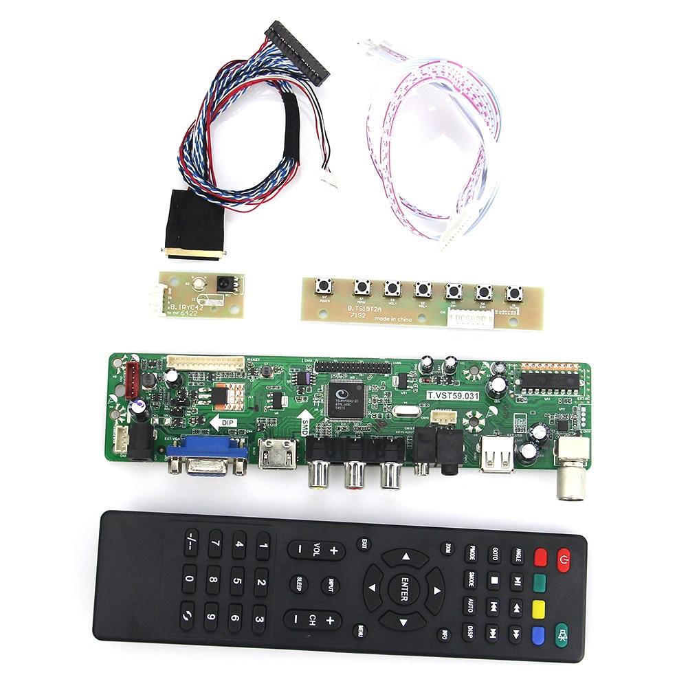 LCD/LED Controller Driver Board (TV+HDMI+VGA+CVBS+USB) T.VST59.03 For B101AW06 V.1 N101L6-L01 LVDS Reuse Laptop 1024x600