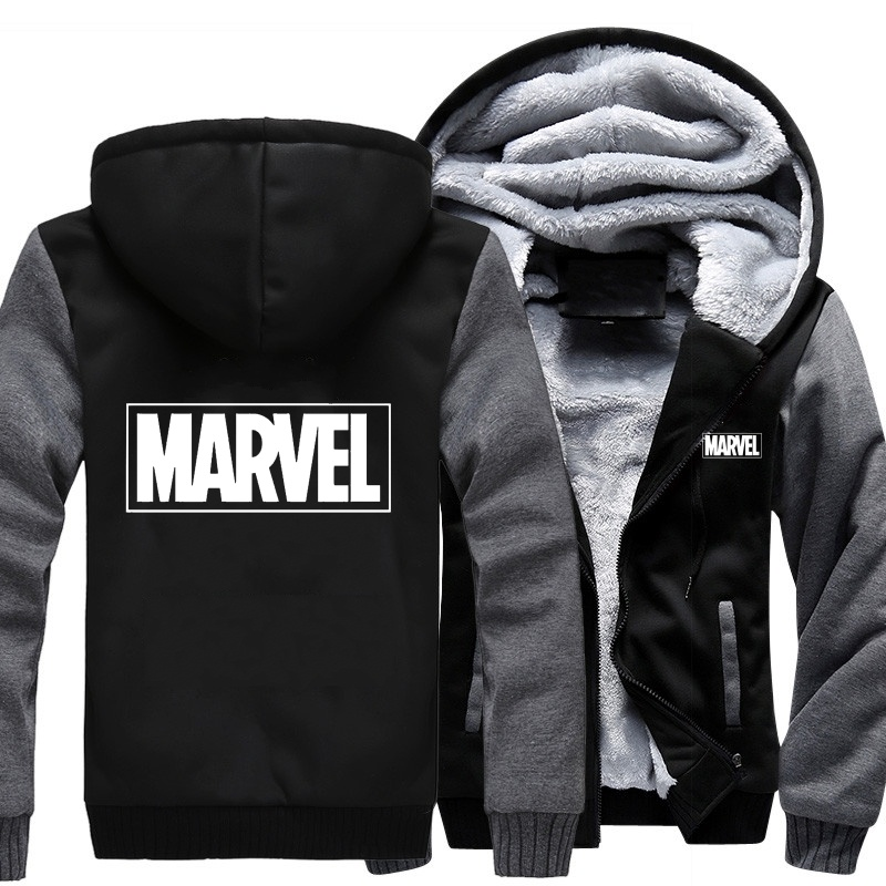 Hoodies Thicken Veste De Hiver Manteau 2019 thicken Polaire Marvel Taille thicken Hommes Motif Laine Sport Usa Baseball thicken thicken thicken Uniforme New thicken Automne InnqZTYx