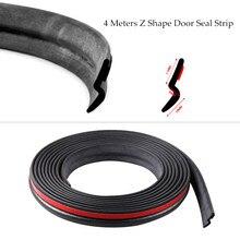 Уплотнительная лента для автомобильной двери типа Z, 4 метра, звукоизоляция для автомобилей, модель Z, 3 м, фоторезиновые Уплотнители для автомобиля