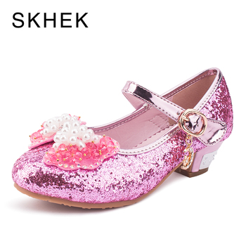 SKHEK Girls Shoes Princess Sandals Children Girls Sandals Summer Kids Shoes Gladiators Flower Girls Shoes With Heels For Wedding римские сандали