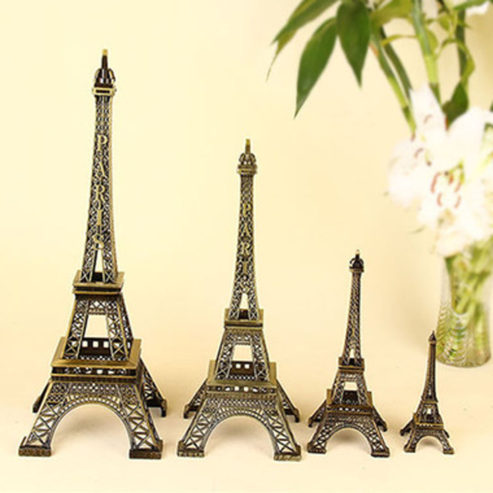1Pc Creative Gifts Metal Art Crafts Paris Eiffel Tower Model Figurine Zinc Alloy Statue Travel Souvenirs Home Decor