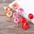 2 pçs/lote flor artificial fotografia adereços grampos de cabelo ganchinhos enfeites de cabelo tiara do partido acessórios do casamento