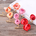 2pcs/lot artificial flower hair ornaments hairpins hairgrips photography props hair clips party tiara marriage accessories