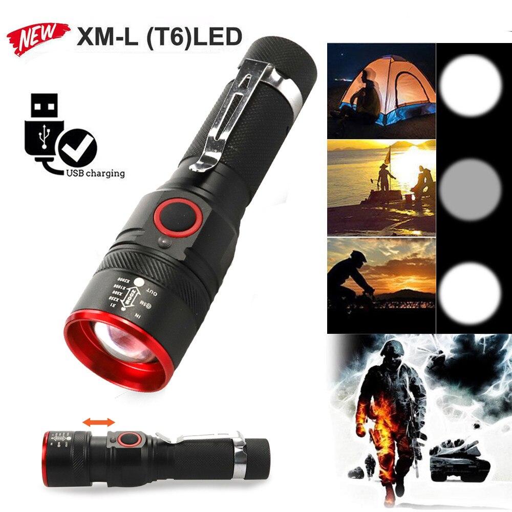 USB Rechargeable Mini Ultra Bright Flashlight Handy LED Torch Pen Light New