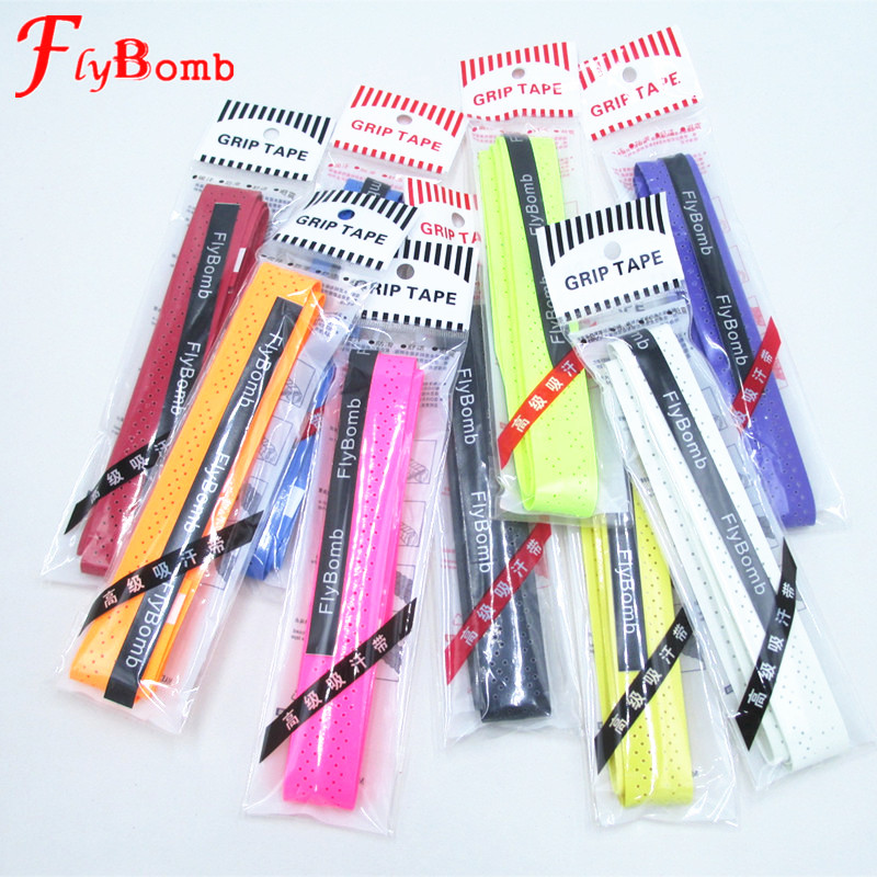 FlyBomb 10 pcs/lot Badminton Overgrips Anti-skid Sweat Absorbed Soft Wraps Tap Tennis Racquet Damper Overgrip tenis Keel Grips