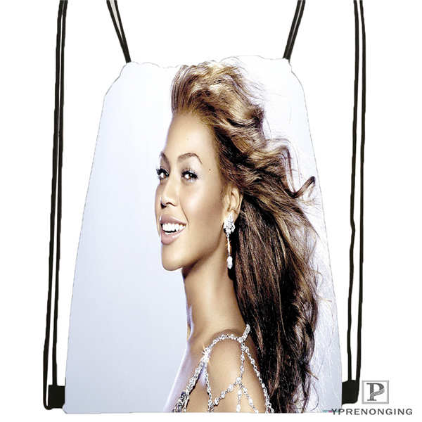Custom Beyonce @3 Drawstring Backpack Bag For Man Woman Cute Daypack Kids Satchel (Black Back) 31x40cm#20180611-03-142