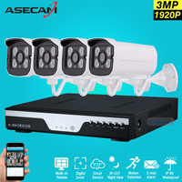 Hot 4 Channel 1920p CCTV Camera Video Recorder DVR AHD 3MP Home Outdoor Security Camera System Kit Array Video Surveillance P2P