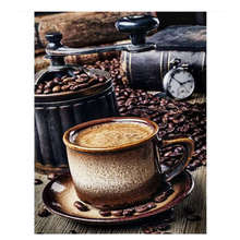 Pictures By Numbers,Wall Pictures,Living Room Decoration,Still Life Coffee Paint Numbers