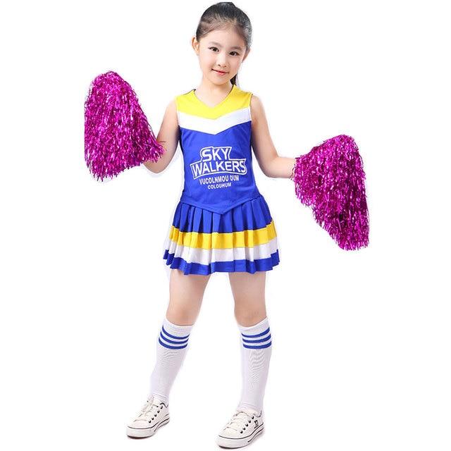 Children Competition Cheerleaders Girl School Team Uniforms KidS  Performance Costume Sets Girls Class Suit Girl Student Suits 60575aaa8