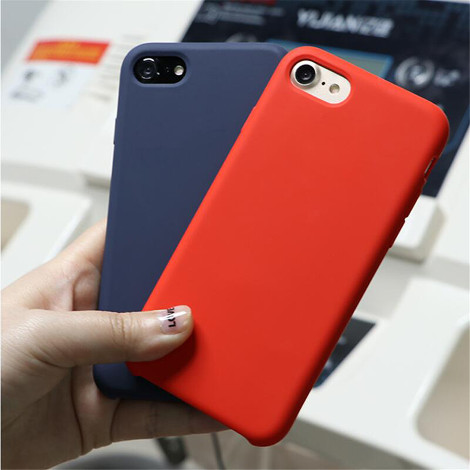 Original Silicone Case on iPhone 7 8 6 6S Plus X 5s 03