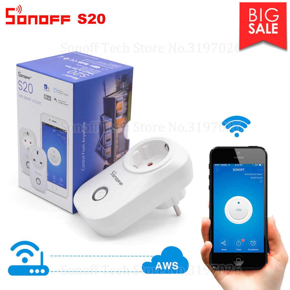 Itead sonoff S20 Смарт Wi-Fi Разъем CN AU вилка типа UK US EU Беспроводной cc1d6555e68