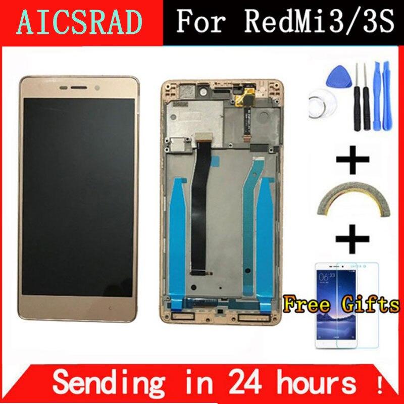 Getestet LCD Digitizer für Xiaomi Redmi 3 s LCD Display Touch Screen Frame Assembly für Xiaomi Redmi 3 Pro/ 3 s Pro Ersatz Teil