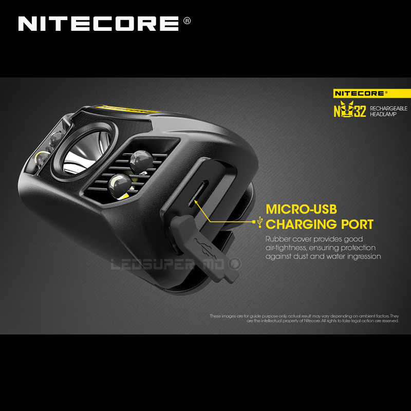 Image 2 - ホット販売 Nitecore NU32 CREE XP G3 S3 LED 550 ルーメン高性能充電式ヘッドランプ内蔵リチウムイオン電池    グループ上の ライト