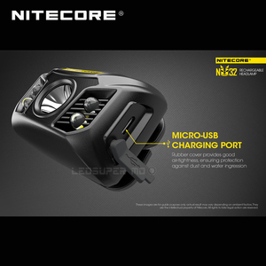 Image 2 - ホット販売nitecore NU32 cree XP G3 S3 led 550ルーメン高性能充電式ヘッドランプ内蔵リチウムイオン電池