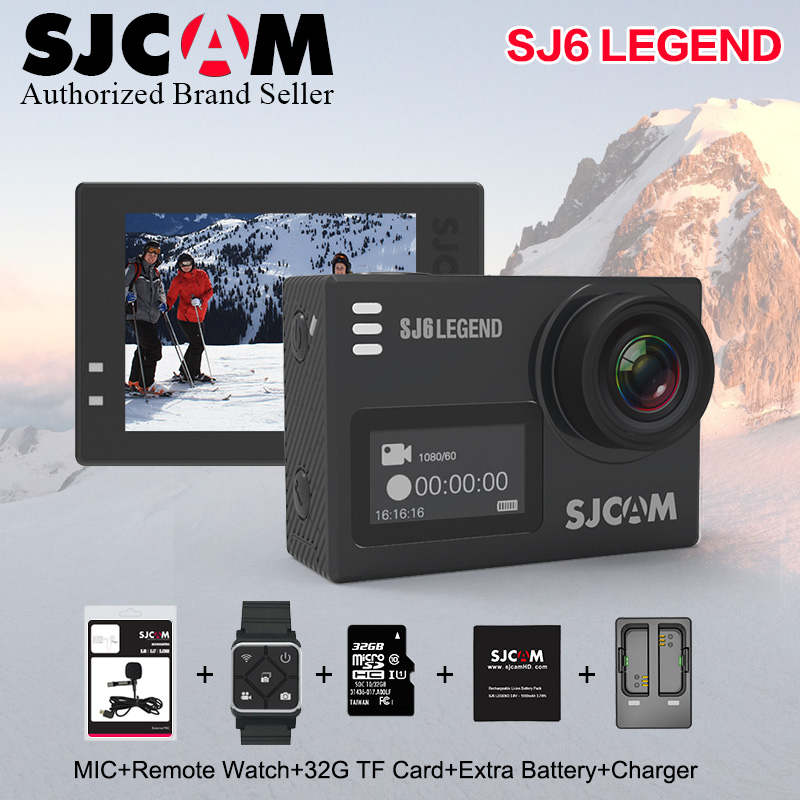 Stock! Original SJCAM SJ6 LEGEND 4K 24fps Ultra HD Notavek 96660 Waterproof Action Camera 2.0 Touch Screen Remote Sports DV in stock sjcam legend sj6 wifi notavek 96660 4k 24fps ultra hd waterproof camera action cam 2 0 touch screen remote sport dv