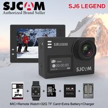 """На складе! Оригинальный SJCAM SJ6 Легенда 4 К 24fps Ultra HD notavek 96660 Водонепроницаемый действие Камера 2.0 """"Сенсорный экран дистанционного Спорт DV"""