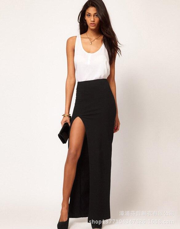 Popular Black Split Skirt-Buy Cheap Black Split Skirt lots from ...