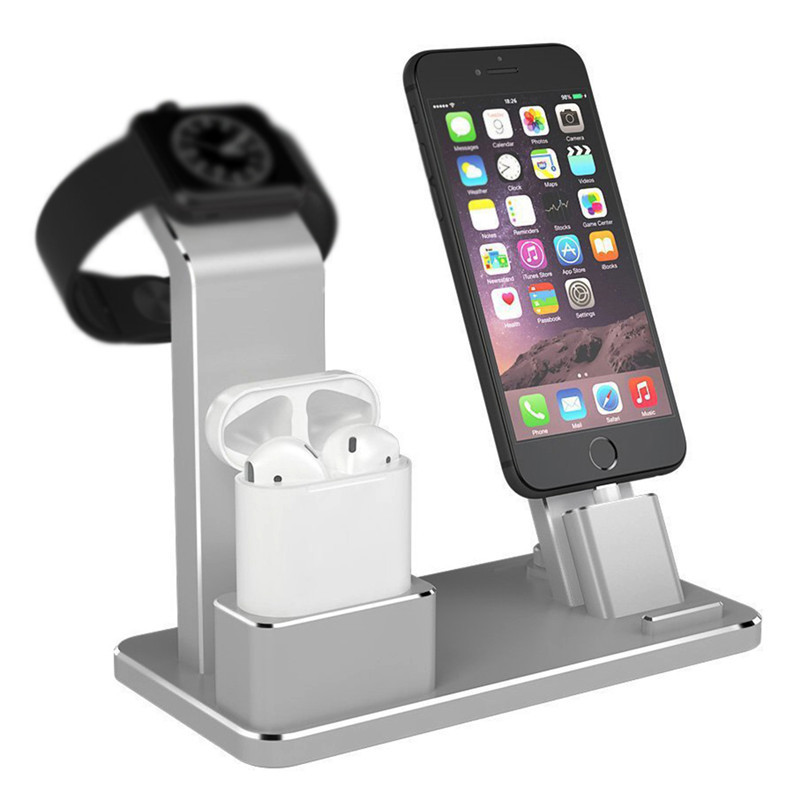 Holder for Apple Watch 4 in 1 AirPods Accessories Charging Dock Phone Stand For Apple Watch Series 2/1 iPhone X/8/8 Plus/7/6/5sHolder for Apple Watch 4 in 1 AirPods Accessories Charging Dock Phone Stand For Apple Watch Series 2/1 iPhone X/8/8 Plus/7/6/5s