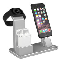 Holder For Apple Watch 4 In 1 AirPods Accessories Charging Dock Phone Stand For Apple Watch
