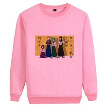 Sailor Moon/Mercury/Neptune Harajuku Style Cartoon Kawaii Pattern Cool Design O-NECK Cotton Sweatshirts A193151(China)