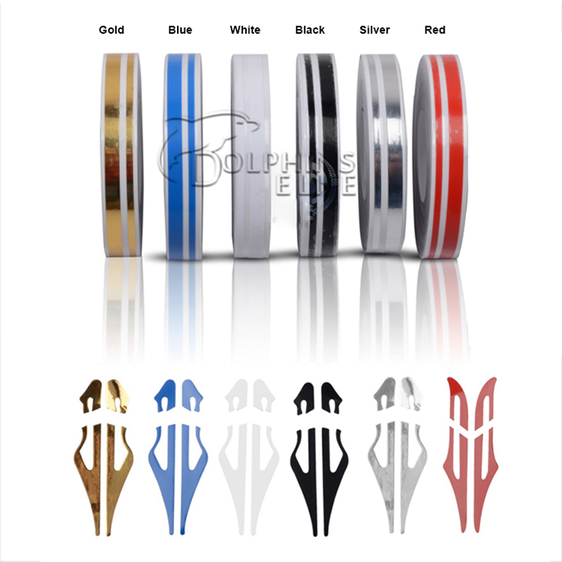 Newest Fashion DIY Car Styling 12*9800mm Sticker Fashion Decoration Strip PVC Whole Body Decals Stickers 6 Colors Car-styling
