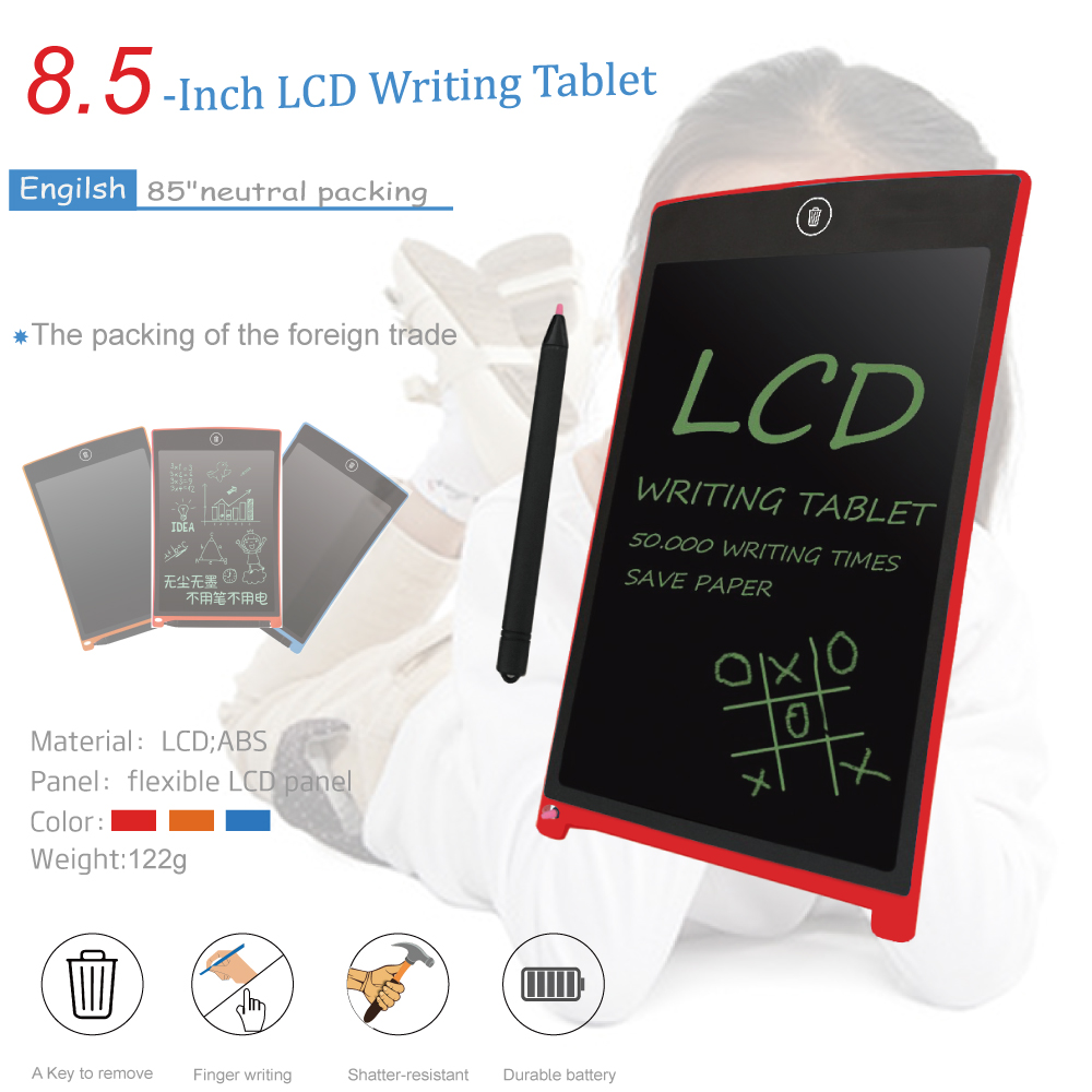 Keyestudio 8.5Inch Magnet LCD Writing Tablet Electronic Drawing Toys/Electronic Paperless LCD Handwriting Pad Black & Blue& Red