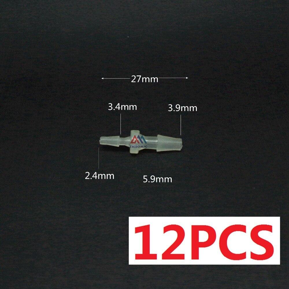 2,4mm Gerade Reduzierung Verbindungskunststoffrohr Fitting Barbed Reduzierung Stecker StäRkung Von Sehnen Und Knochen Freundlich 12 Stücke 3,9mm Heimwerker