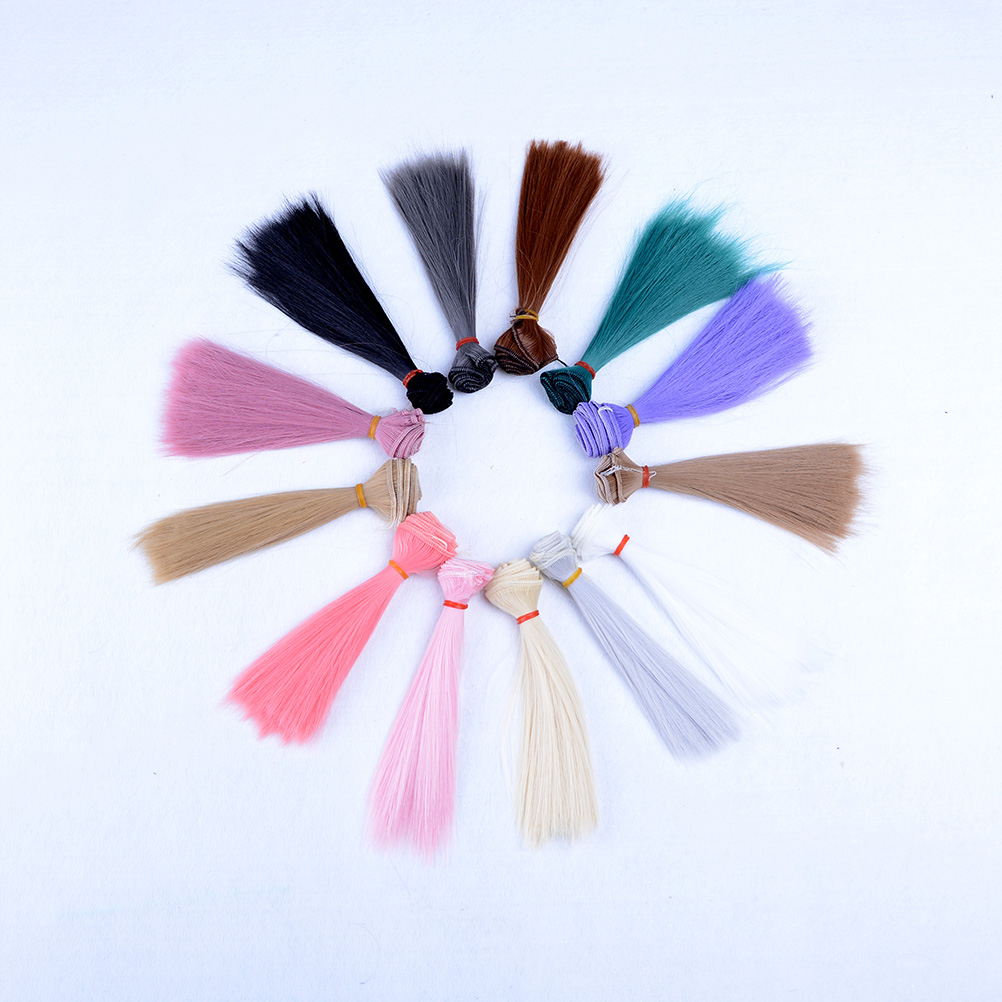 Toys & Hobbies 6 Color Diy Doll High-temperature Wire Long Straight Hair Wig 1/3 1/4 1/6 Hair Wig For Bjd Doll 15cmx100cm Crease-Resistance Dolls & Stuffed Toys