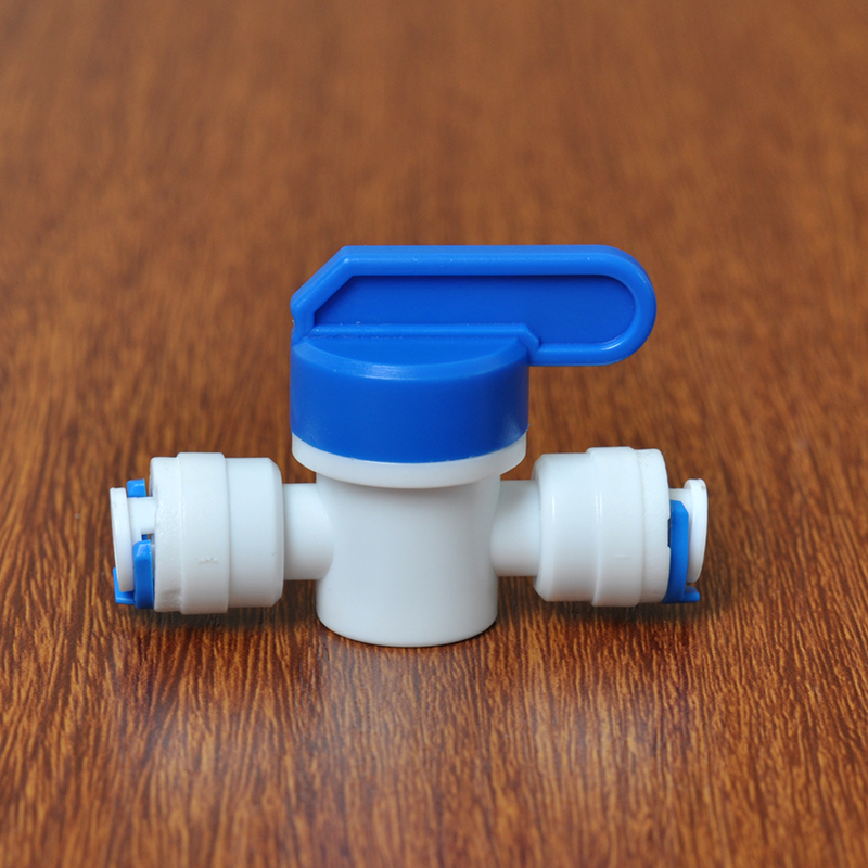 """1/4 """"-1/4"""" OD Tube PE tuyau raccord tuyau droit lavage à contre-courant contrôlé vanne à boisseau sphérique Aquarium RO filtre à eau système d'osmose inverse"""