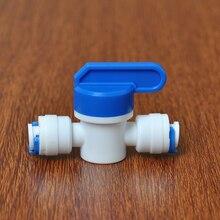 """1/""""-1/4"""" OD труба PE фитинг шланг прямой промывка контролируемый шар аквариумный клапан RO фильтр для воды система обратного осмоса"""