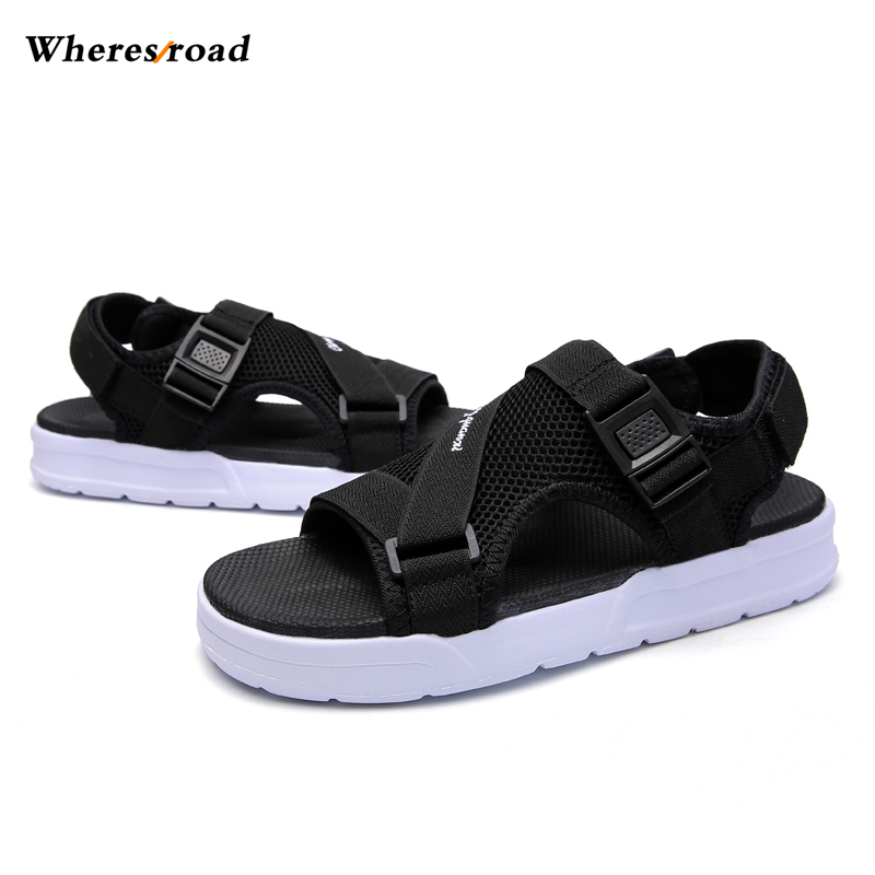 New 2018 Summer Mens Comfortable Breathable Outdoor Tracking Shoes Man Beach Sandals Open Toe Male Flip Flops slipersp Flat