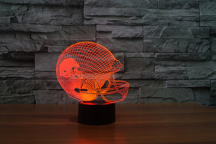 Cleveland Brown American football teamlogo on helmetSLong 3D led Light4