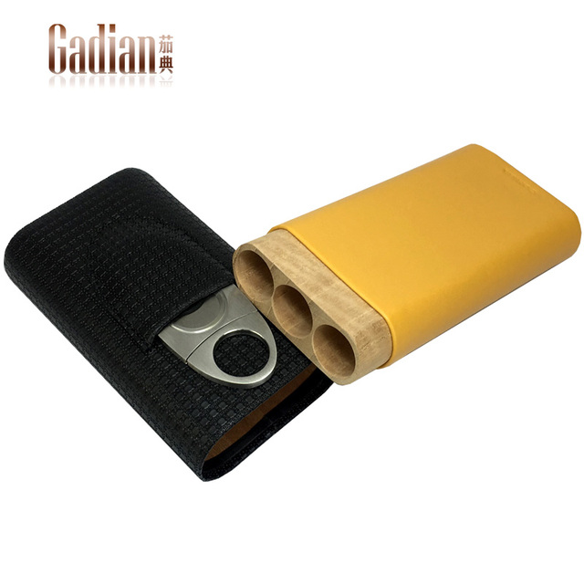 Cohiba travel humidor Cigar cutter 3 cigars holder Cigar punch travel case