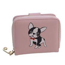2019 New Mini Wallet Ladies Short Puppy Print Cartoon Coin Purse Wallets Multi-Card Clutch Women Portefeuille Femme