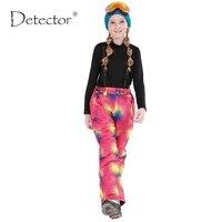 Detector 2016 Winter Girls Ski Pants Windproof Overall Pants Tracksuits For Children Waterproof Warm Kids Boys