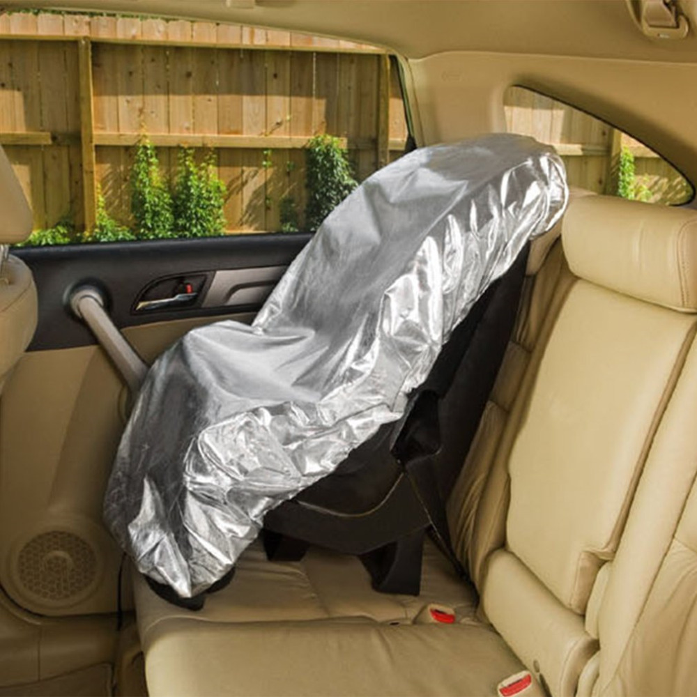 Universal Baby Car Seat Sun Shade Cover Protective Silver Aluminium